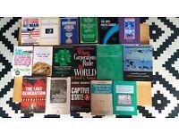 Assorted books - economics, politics.