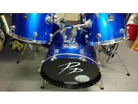 Performance percussion drum kit, blue