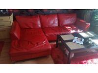 leather corner sofa/bed