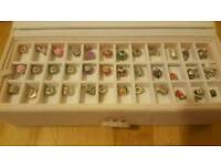 Jewellery box, necklace and bracelet with Pandora stlye charms for jewellery making