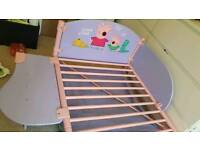 Peppa pig toddler bed with side table and storage