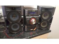 Sony stereo cd player ipod docking station radio etc etc