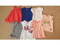 Bundle Of seven girls tshirts - aged 4-5