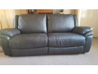 Brown leather 3 seater sofa only 6 months old. In excellent condition