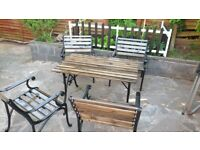 CAST IRON GARDEN FURNITURE TABLE CHAIR BENCH ENDS #2