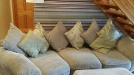 Cream sofa in great conditionx just over a yr old! Footstool 2 match