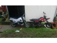 2 mini dirt bikes for sale or swap