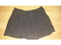 Excellent quality black shorts-size S (fits M too)
