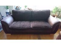 Sofa, 3 seater and 4 seater, good condition