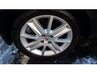 """Renault megane 17"""" alloy wheels and tyres £150"""