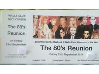 80's Reunion Night Ticket