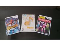 Nintendo Wii Games Music Bundle, Just Dance , Music and Boogie.