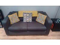 Habitat Porto Charcoal Fabric 2 Seater Sofa, Excellent Condition
