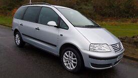 (08) Volkswagen Sharan Se 1.9 Tdi 115 Auto **1 yrs Mot & Fsh Nice Clean 7 Seater**
