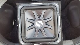 """Kicker L7 solo baric 15"""" subwoofer in sealed box"""