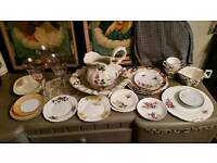 Lot of vintage china - some pretty pieces