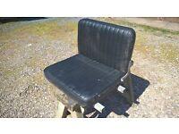 foldable seat ideal tractor mower, dumper, boat etc