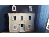 victorian dolls house 12th scale furnished £125 no offers BARGAIN