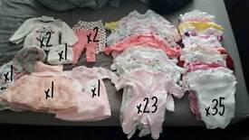 Baby girls new born bundle.
