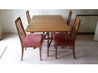 Ercol folding dining table and chairs