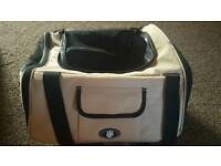 Me & My Pets Cat/Dog Car Seat/Carrier - Cream