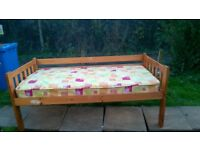 Single pine bed. Free local delivery