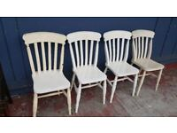 Set Of 4 Farmhouse Chairs