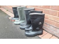 Steel toe Wellingtons x 4 pair size 10