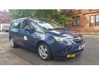 Private Hire car for rent Glasgow Council , 7 seater Zafira Tourer ,only 9k miles on clock