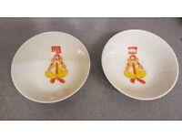 1980's Macdonalds Cereal Bowls