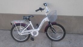 Girls 18''bicycle only 6 months old as new cost new £ 120 will accept £60