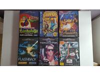6 Sega Megadrive Games.