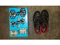 Shimano XC30 SPD shoes. Size 8