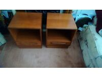 """REDUCED. PAIR OF G PLAN BEDSIDE CABINETS.REDUCED"