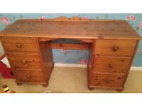 **SHABBY PROJECT** pine dressing table 6 drawers