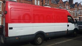 Man wit the large van.house removal and clearance ,delivery,collection.run for dump from £15 single.