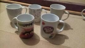 Mugs x 5
