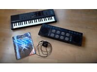 Yamaha Porta Sound PSS-260 keyboard & digital Drum Bank DD-10. Ideal Christmas present