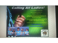 Looking for Female Rugby Players.
