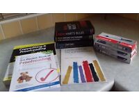 Proofreading books, dictionaires and pens in good condition.