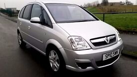 vauxhall meriva low mileage 1.4