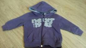 Next 6-9 m purple hoodie