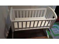 John Lewis baby cot white