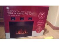 Brand new wall mounted fire