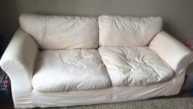 Light Beige 3 Seater Sofa