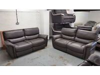 BRAND NEW ScS SATURN ENDURANCE Grey 2x 3 SEATER ELECTRIC RECLINER SOFAS (£450 Each)