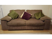 Two and three seater sofa for sale (with cushions) - £100 for both
