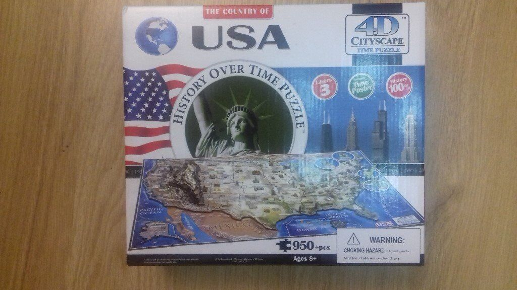 4D CITYSCAPE TIME PUZZLE JIGSAW USA