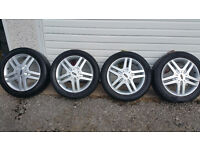 FORD Genuine 16 '' alloy wheels + 4 x tyres 205 50 16