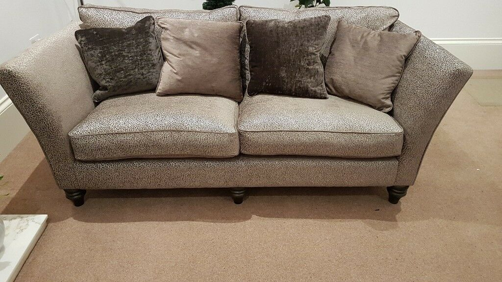2x Brand New Ashley Blenheim Sofas In Garbo Mosaic Truffle Style Comes With